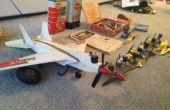 Starten van een oude motor van de gloeibougie