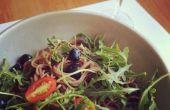 Sojasaus + ahornstroop Noodle salade Dressing