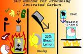Maken van actieve kool van de voedselresten (CCC Carbon methode)