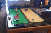 Lego spelen tafel met opslag van oude koffietafel en lade.