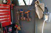 Eenvoudige staalkabel gereedschap rek