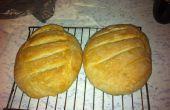 Maken van wit brood met de hand
