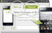 Back-up maken en gegevens terugzetten vanaf Android telefoon met SyncDroid