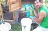 Maken van stof strooisel voor uw kippen met behulp van kitty nest zag