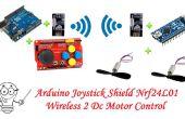 Arduino Joystick schild Nrf24l01 Wireless 2 Dc Motor Control--RC auto Project deel 1