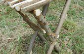 Handgemaakte, Split houten tafel
