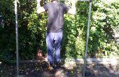 Manly Pullup bar (staal en beton!) (moet lassen)