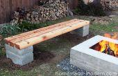 Zelfgemaakte moderne DIY Outdoor Concrete Bench