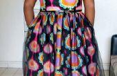 Vintage geïnspireerde jurk met Afrikaanse wax stof