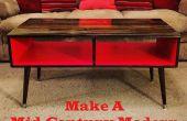 Maak een koffietafel van het midden van de eeuw moderne stijl gemakkelijk & goedkope