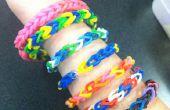 Rainbow Loom armband zonder Rainbow Loom met gemeenschappelijk huishouden objecten