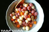 Schattig vormige Tang Yuan - witte kleverige rijst ballen in gember siroop.