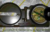 Omvormen van de plastic lens van een goedkope kompas