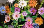 Maken van boeketten bloemen van papier
