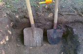 Hoe hand graven een gat