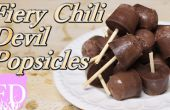 Donkere chocolade Chili duivel ijslollys