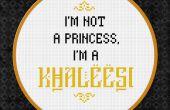 Spel van tronen - ik ben niet een prinses, ik ben een khaleesi - Vrije Cross Stitch PDF patroon