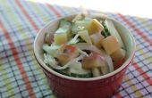 Salade van watermeloen korst augurk