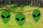 Faux gebrandschilderd glas Alien Banner & andere projecten