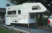 Folding opslag en catio voor een vrachtwagen camper. (of een kleine hond patio)