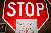 """""""Sok"""" garens, garen gemaakt van sokken!"""