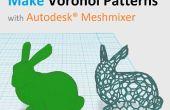 Maken van de 3D printbare Voronoi patronen met Autodesk® Meshmixer