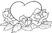 Hoe teken je een hart met rozen