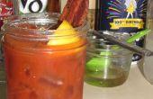 Zelfgemaakte spek wodka - (Bloody Mary)