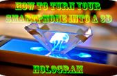 Hoe zet uw smartphone in een hologram