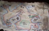 Maken van een oude uitziende kaart van Neverland