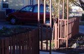 Mijn mooie $100 pallet houten piket hek!