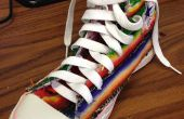 Mexicaanse Deken herstelde en geborduurd Converse hoge Top Sneakers