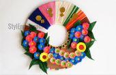 DIY Wall Decoratie idee: How to Make een papier-krans voor huisdecoratie