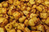 Geroosterde aardappelen met knoflook en rozemarijn
