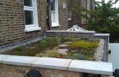 Bouwen van een dak wonen / groen dak
