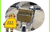 Super Deluxe aangepaste fiets mand voor onder $5.00, (met behulp van karton, draad & Duct Tape)