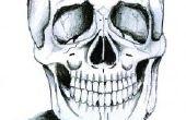 Hoe teken je een skelet hoofd