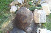 Concrete rotsen en sculpturen