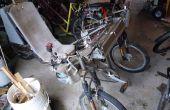 Titanium Electric Tadpole ligfiets volledige schorsing Trike met DIY motorcontroller
