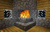 Hoe maak je een haard die niet zal je huis neer branden in Minecraft