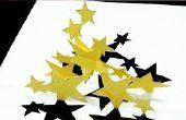 Hoe maak je sterren Pop Up kaart (Kirigami 3D) Dancing Stars wenskaart!