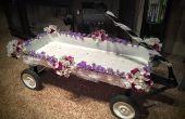 Rode Flyer bruiloft Wagon Makeover