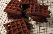 Snelle (het glutenvrij is optioneel) Chocolade wafel koekjes
