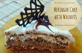 Meringue taart met walnoten