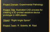 Ilustrated CAD proces voor het maken van een 3D afgedrukt ondersteunende apparaat in ABS-kunststof