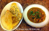 Boter Naan en boter garnaal Curry