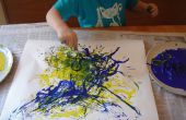 Het gebruik van spaghetti te schilderen zoals Jackson Pollock
