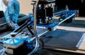 Maak een vouwen Plotter die Circuits op textiel afgedrukt