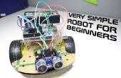 Zeer eenvoudige robot voor beginners