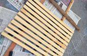 Gerecycled Mat draagbare houten douche
